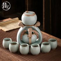 Ruyao automatic Kung Fu tea set Home living room office reception high-end lazy tea artifact gift box