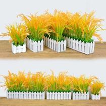 仿真稻谷小麦水稻穗塑料花假花摆件麦穗装饰盆栽栅栏花客厅摆设