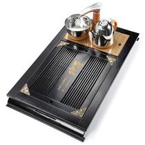 Полностью автоматическая четыре-в-одном семейная чайная тарелка твердого дерева кунг-фу чайный стол воды бамбуковый чай лоток электрической тепловой магнитной печи