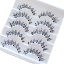 5 Pairs Fashion Handmade Natural Long Cross False Eyelashes
