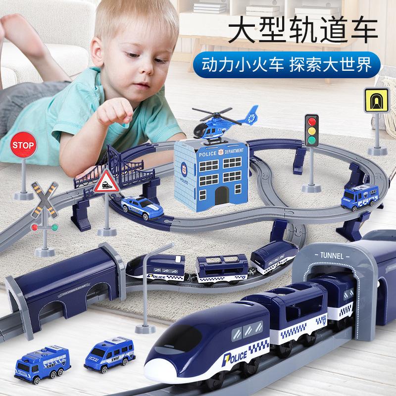 Childrens train track toy harmony high-speed train electric train car track assembly high-speed boy