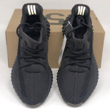 Black raw rubber coconut shoes man 350v2 all sky star poison Authentic Black Warrior official website yeezy Angel Putian