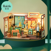 rolife Ruolai Han on the bustling HANDMADE national style DIY cottage assembled model house Nancis home gift