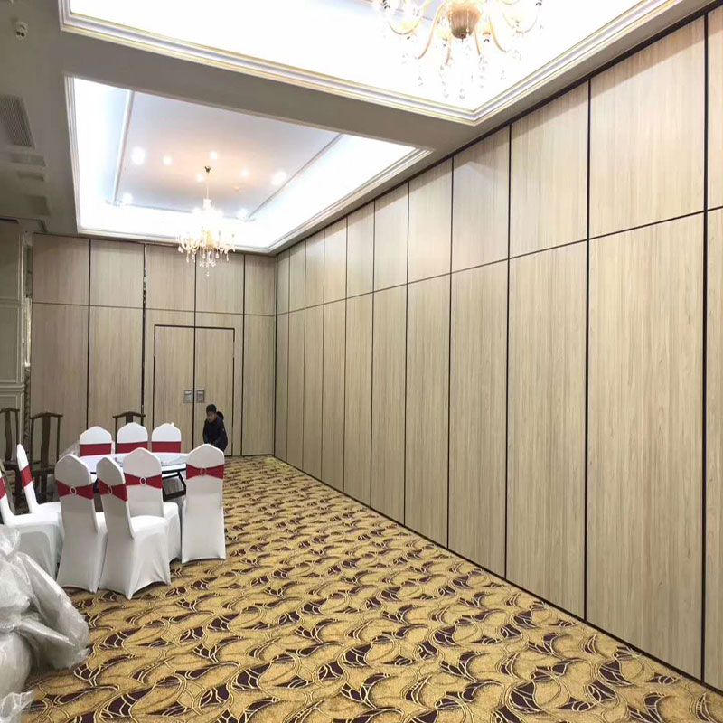 Hotel activities partition wall hotel room public toilet partition panel self-loading crane wheel push and pull mobile folding door
