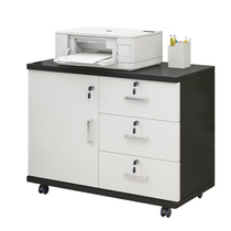 Three drawer information cabinet storage mobile low cabinet table under the small cabinet wooden office cabinet floor-to-ceiling file cabinet with lock