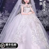 60cm Cub Bear Barbie Doll Set Large Girl Princess Princess Toy Oversized 2020 new cloth