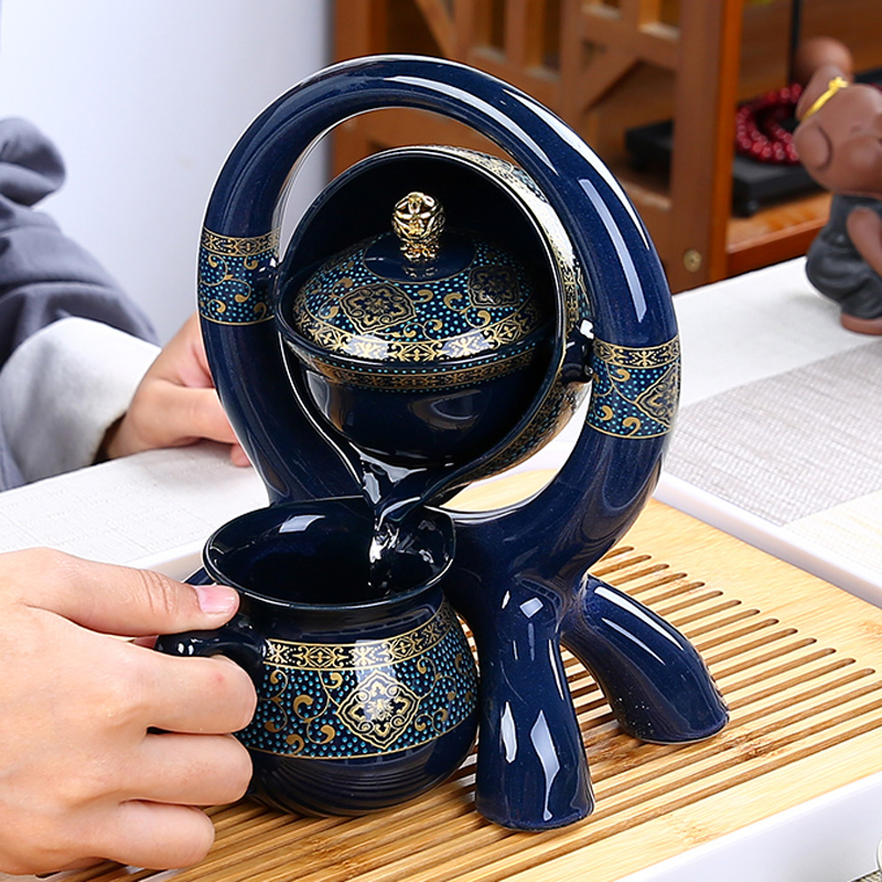 The remote bubble shakes out the water automatic tea set lazy tea set kungfu tea set home Chinese anti-hot lazy 沖 tea machine
