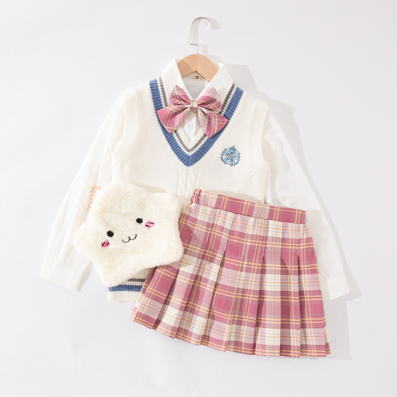Childrens jk uniform dress spring dress malacca girl autumn and winter school uniform suit genuine primary school children 12 years old