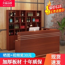 Simple modern hotel bar bar cabinet integrated corner bar counter commercial shop small front desk counter