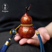 Donguan Dongguan intangible cultural heritage handmade big paint small gourd pendant car hanging crafts Fuzhou lacquerware characteristic gifts