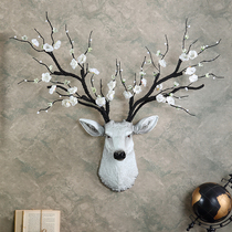 Lucky deer head wall hanging wall decoration living room TV background wall decoration pendant porch wall decoration