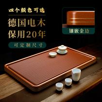 Plateau à thé en Bakelite allemand haut de gamme 2021 nouveau style chinois lumière de luxe moderne jaune simple en bois massif entier Bakelite
