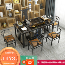 Kung fu tea table and chair combination office coffee table Fire Stone tea table new Chinese Tea Table Tea Set Set one