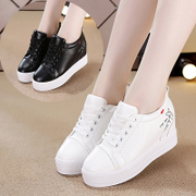 White shoes in winter 2017 new Korean women all-match sports casual shoes and cotton shoes