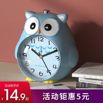 Childrens alarm clock student-specific cartoons can speak silently牀 head night light high volume smart multi-function small alarm