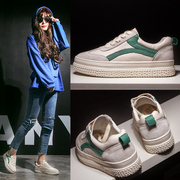 White shoes in summer 2017 new all-match Korean thick bottom increased Street leather casual shoes tide Muffin