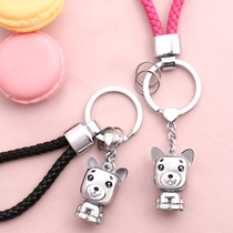 2018 Dog year keychain creative couple Car Key Chain pendant zodiac wood Dog mascot
