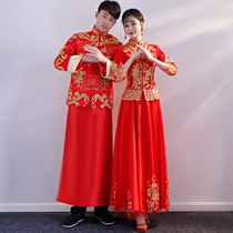 Xiu wo dress Bride 2018 New style costume wedding chinese style marriage dress wedding chinese toast gown married dragon and Phoenix coat