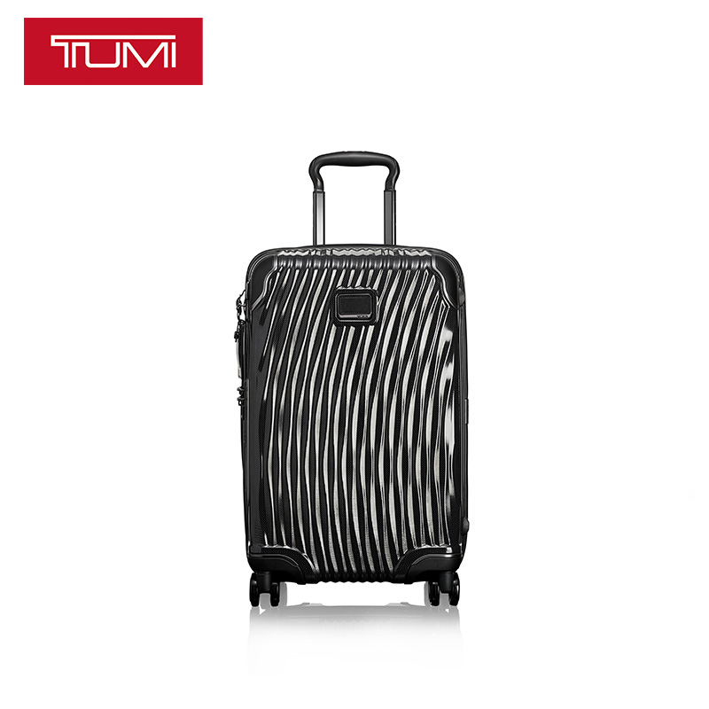 TUMI/Tuoming Latitude Series Lightweight Hard Surface Corrugated Metal Glossy Universal Wheel Tie-rod Box Luggage