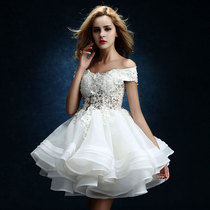 Broken code 20 22 24^^ Wedding dresses cropped 2018 new spring sisters sexy party dress bridesmaid