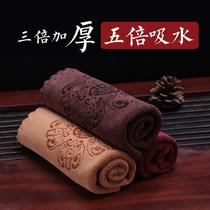 Thickened чай полотенце чай ткань водоохвающих печатных квадратный чай скатерть чайная тарелка кунгфу чайный набор аксессуаров специальные тряпки полотенце