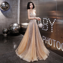 Wine dress Bride's Summer Birthday Party Party Female Evening Dress Temperament Long and Elegant Marriage Bridesmaid's Dress