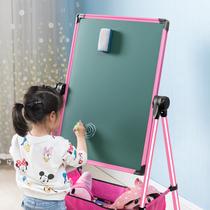 Childrens drawing board Magnetic dust-free bracket type small blackboard Home baby writing whiteboard graffiti erasable easel