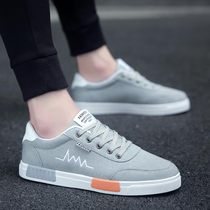 2020 new spring Korean version of the trend of mens shoes wild sports casual canvas shoes mens cloth shoes low-top tide shoes