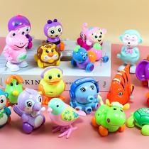 Осьминог пластиковые детские волосы игрушка лягушка 0-1-2 лет ползать ребенка на цепи автомобиля животных олова