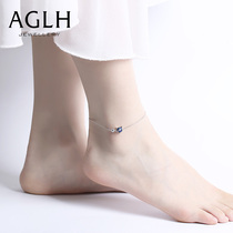 Little devil anklet female summer 2021 new sterling silver net red foot jewelry does not fade Valentines Day gift to girlfriend