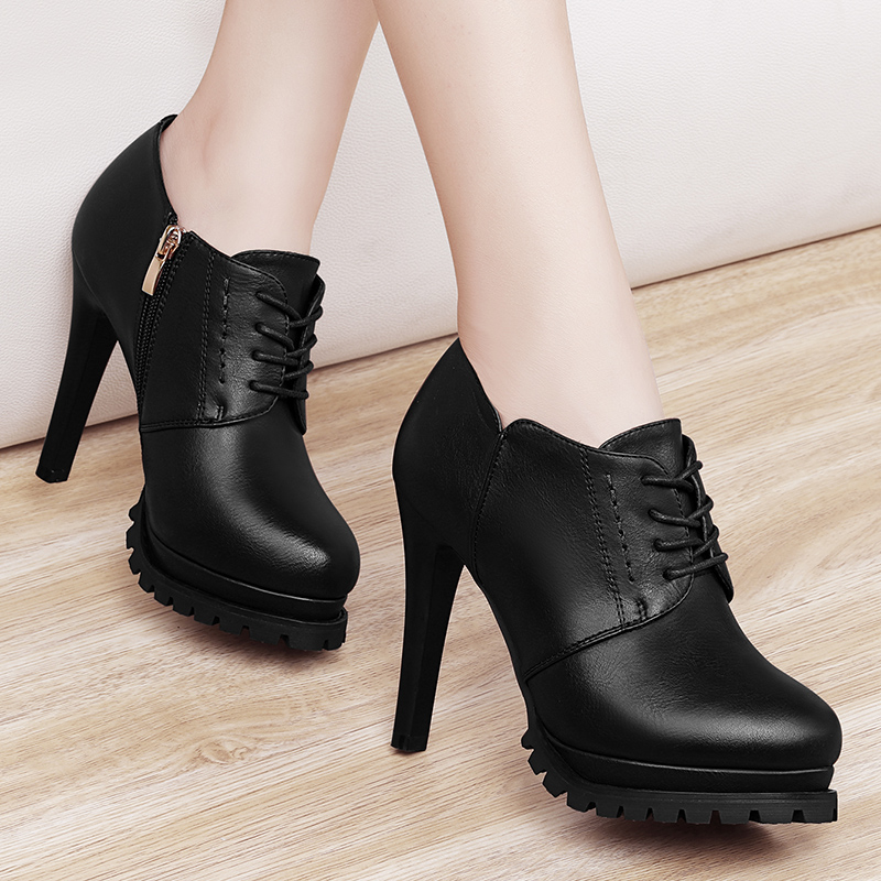 2018 new fashion Korean version of the wild shoes autumn and autumn high-heeled autumn shoes stiletto waterproof single shoes women's shoes