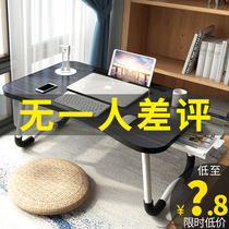 Bed, small desk, laptop, desk, dormitory, desk, lazy person, desk, foldable artifact of university dormitory