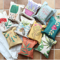 Art cotton paper towel stalls with pastoral tissue American tissue box cover paper towel bags napkin Book box sets