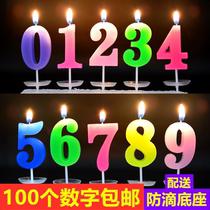 生日蛋糕数字蜡烛七彩数字蜡烛蛋糕装饰创意蜡烛
