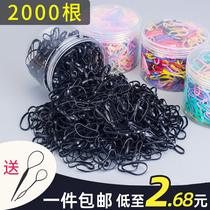 Small rubber band Female Head children do not hurt hair leather cover hair hair accessories head rope black rubber band disposable Hairband do not slack hair