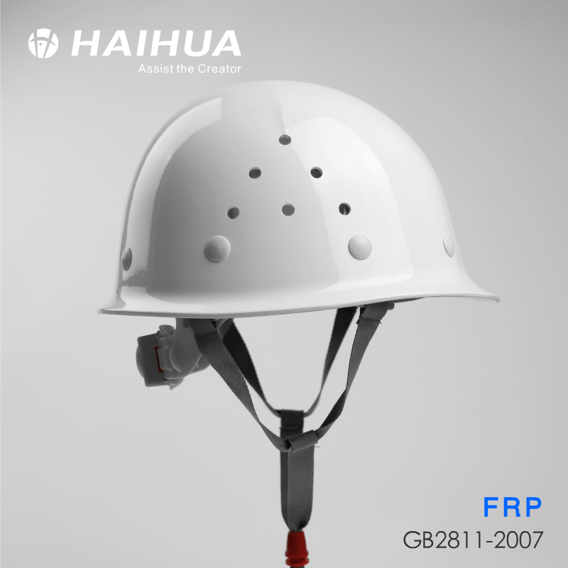 Safety helmet, Haihua B5K FRP helmet summer breathable construction safety helmet electrician helmet free printing