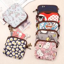 Кошелек женский маленький кошелек мини-милый корейский брелок ткань Холст маленькая сумка студенческая монета кошелек