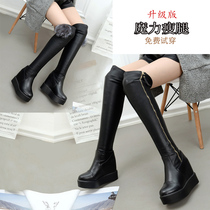 Knee boots boots boots women's fall and winter boots Gaotong with high-heeled shoes with high heels 34