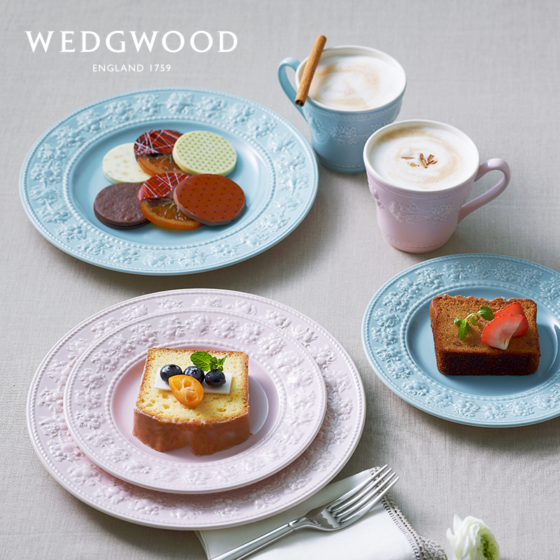 WEDGWOOD brings live and happy holiday plate European ceramic plate plate Western plate tableware home plate