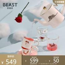 THEBEAST Fauvist Little Prince Bone CHINA SET Tea SET Teapot Teacup 5-PIECE set Birthday New Year GIFT