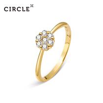 CIRCLE японская ювелирная звезда с 18-каратного желтого золота обручальное обручальное кольцо бриллиантовое кольцо