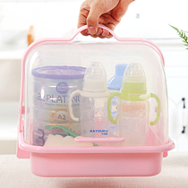 Baby Bottle storage Box Baby Tableware multi-function small storage box large belt cover dustproof leachate dry