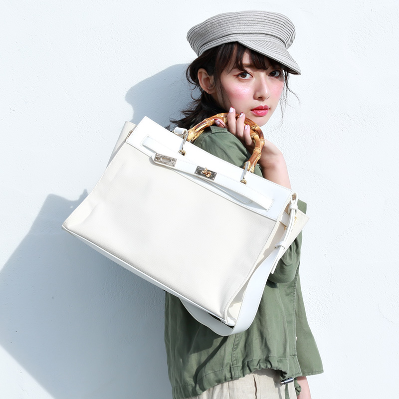 Casselini Japanese Bamboo Canvas Bag Girl 2019 New Large Capacity Temperament Commuter Single Shoulder Handbag