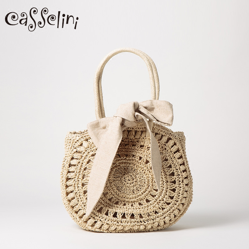Casselini Japanese bag female 2018 new shoulder bag portable straw bag fashion holiday beach bag tide