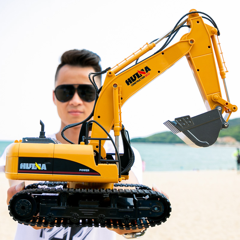 Telecontrol Excavator Charging Electric Alloy Engineering Vehicle Large Digger Wireless Children Boy Hook Toy Fall Resistant
