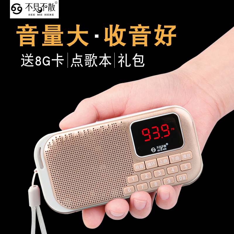 See Me Here/See you LV960 old man radio portable card mini speaker player
