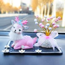 Bon voyage deer diamond-inset car ornaments ornaments goddess type car lovely men and women creative car decoration