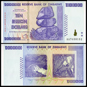 With six different shipping Zimbabwe 10 billion yuan banknote series trillion foreign coins real currency notes