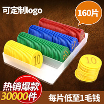 Chips Chips Texas Mahjong Chips Card Chess Room Dedicated Plastic Points Reward Currency Exchange Card Tokens