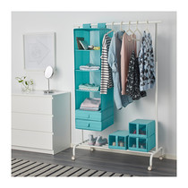(limited time Offer) 1.2 Ikea store hanging bag wardrobe storage box finishing 6 grid domestic purchasing